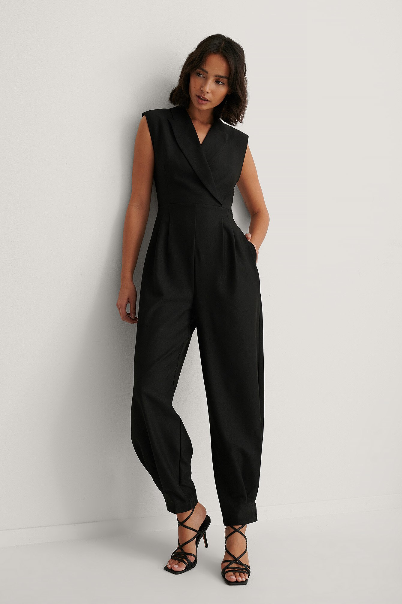 Marked Shoulder Jumpsuit Outfit.