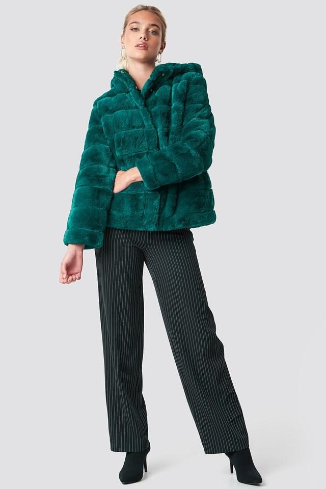 Soft Faux Fur Jacket Outfit