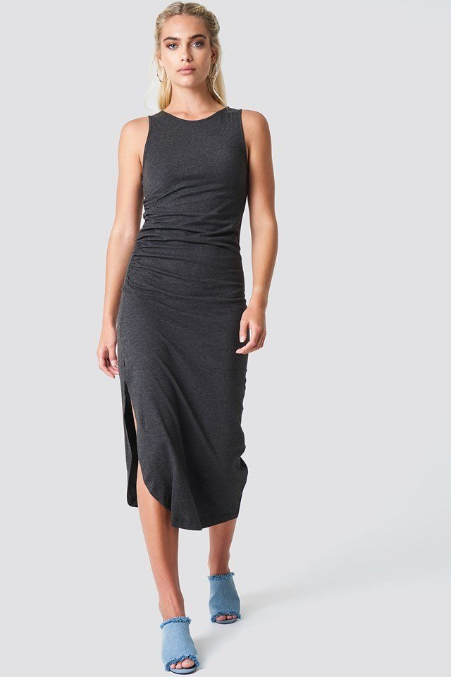 Side Ruching Dress Outfit
