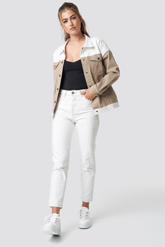 Blocking Color Denim Jacket