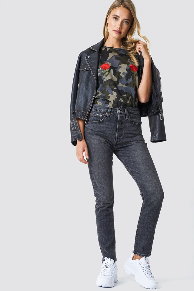 Leather Jacket and Denim Outfit