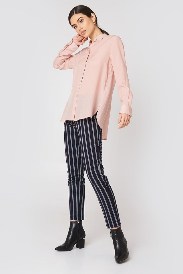 Relaxed Fit Shirt with Stripe Trousers