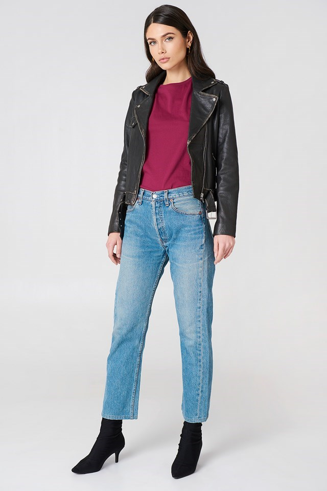 Worn Look Leather Jacket Outfit