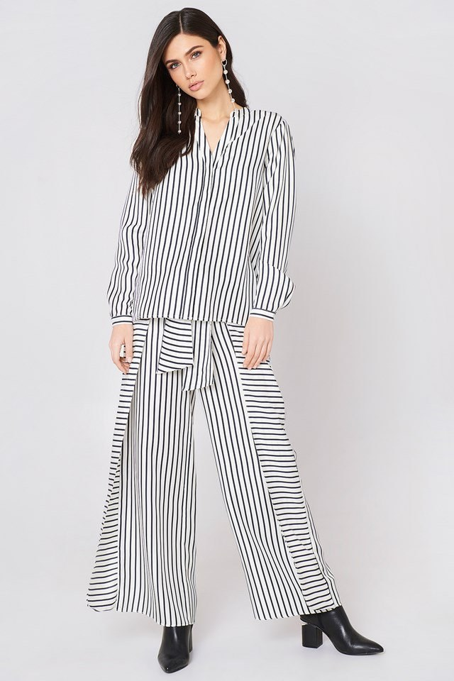 Striped Shirt and Trousers Set