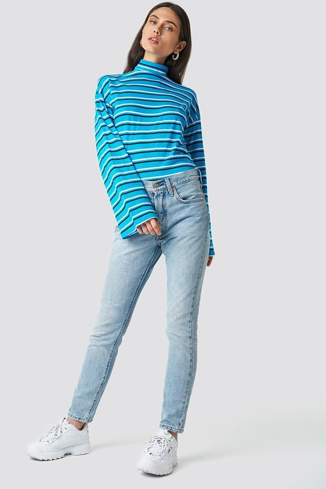 Wide Sleeve Polo Top