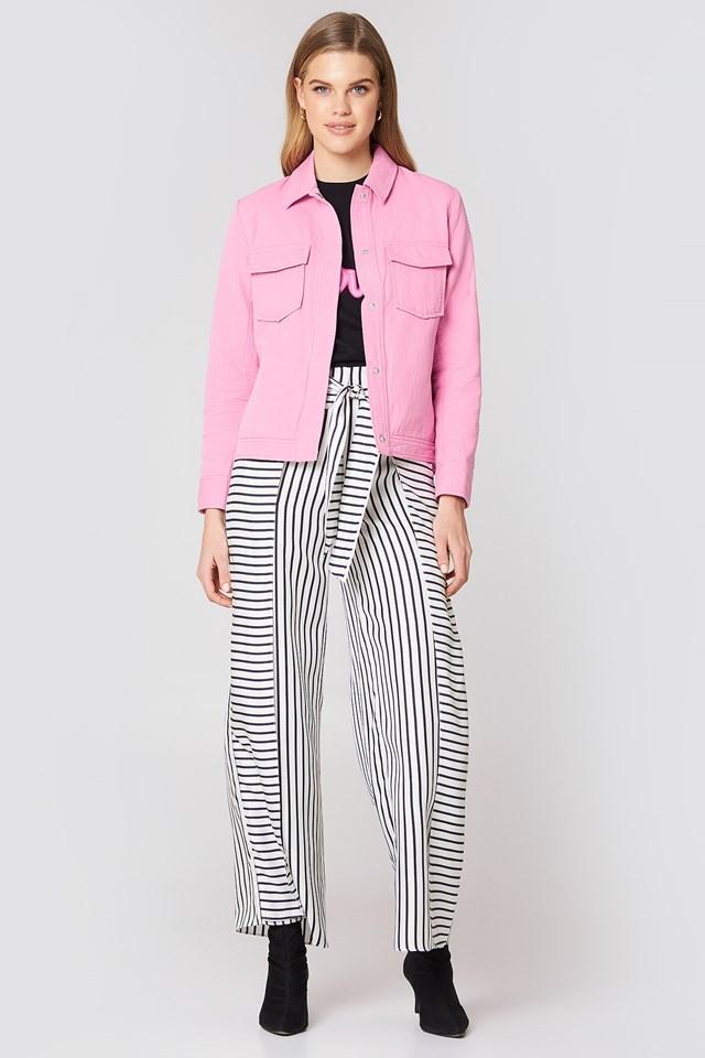 Pink Denim-like Jacket