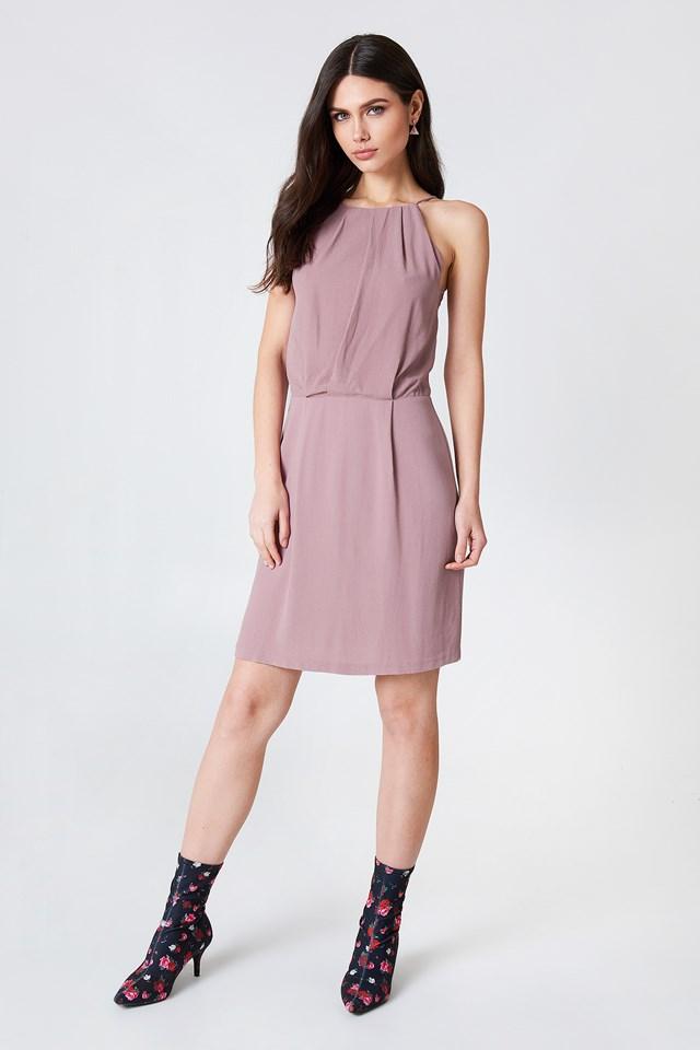 Mini Dress with Lace Details