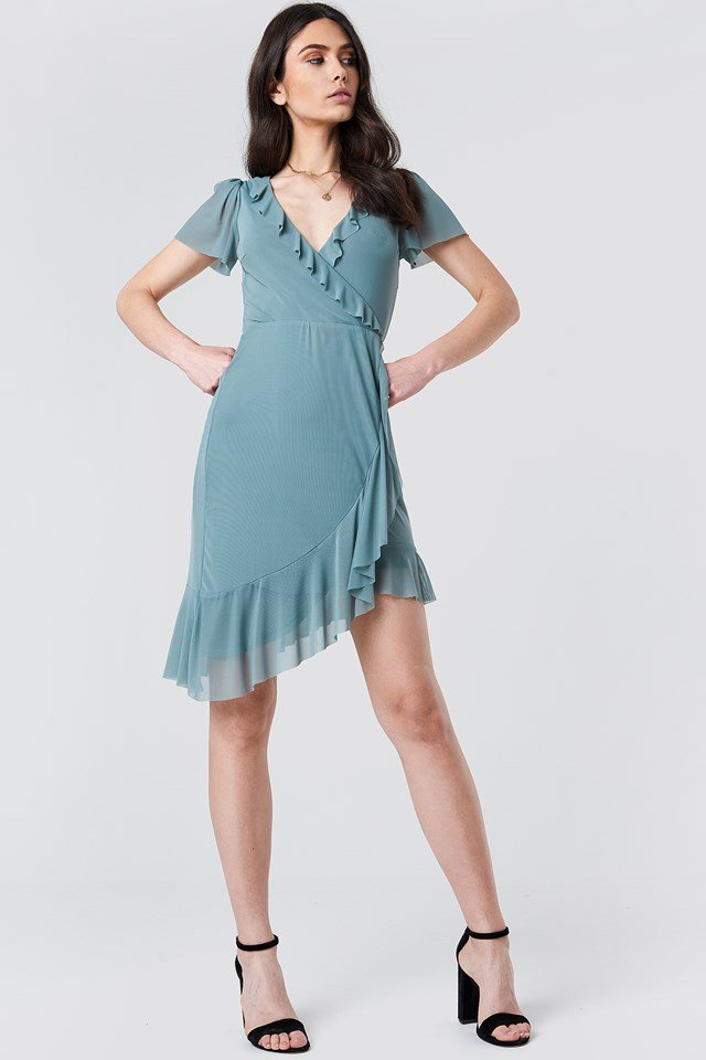 Ruffle Mini Dress Look