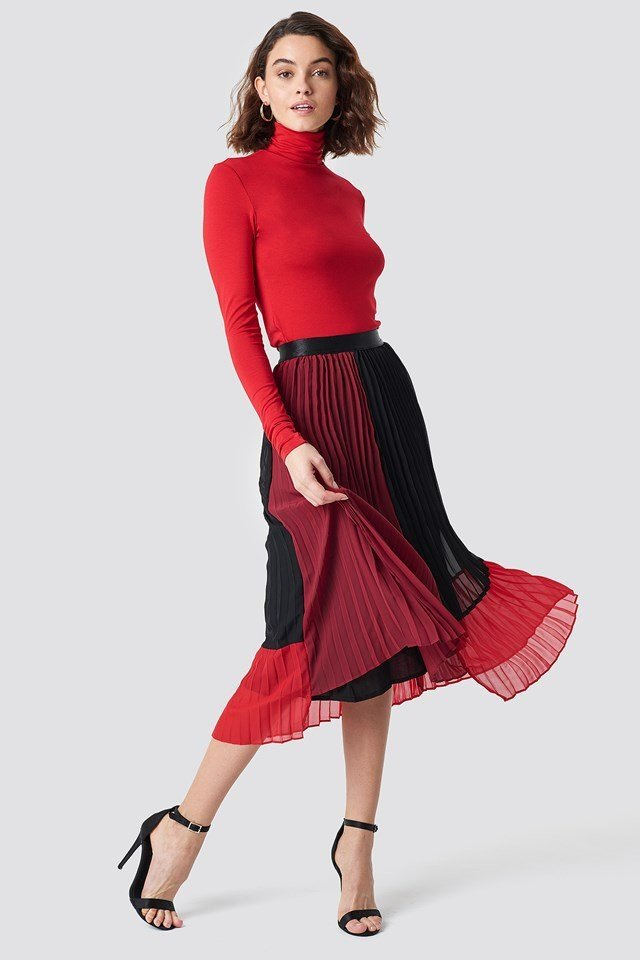 Skirt with Pleated Details
