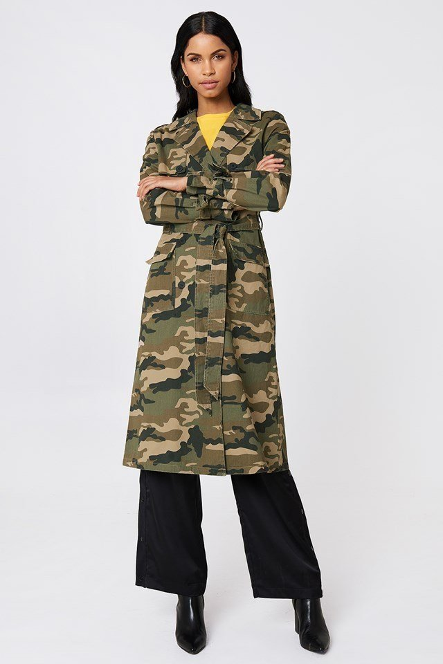 Camouflage Coat Outfit