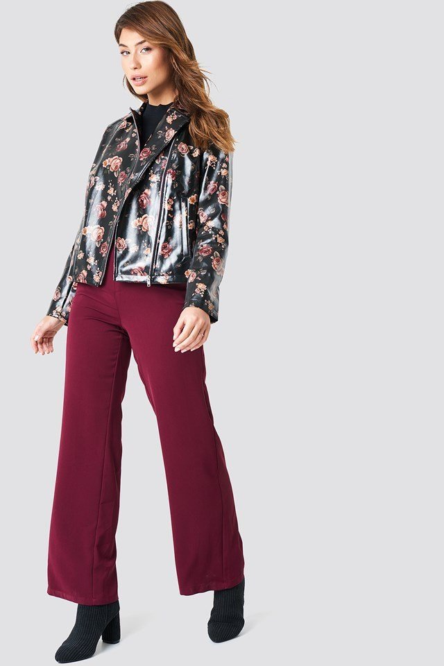 Floral Cropped Jacket Outfit