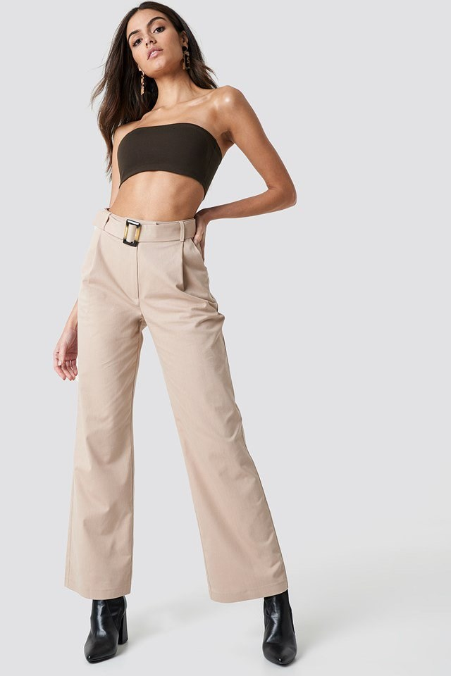 Belted Cotton Pants