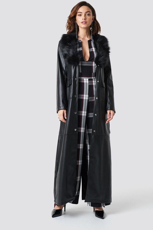 Maxi Coat and Jumpsuit