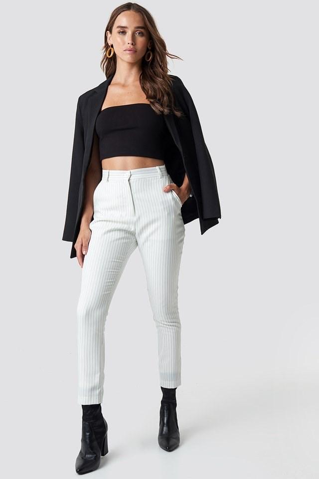 Pinstripe Pants with Blazer
