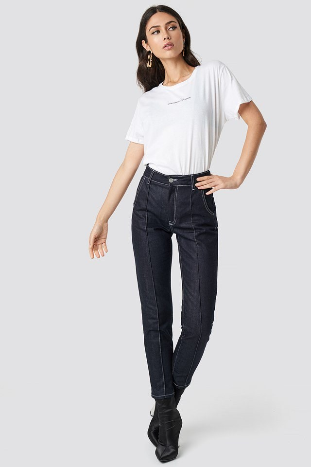 Casual Denim Passionate Tee Outfit