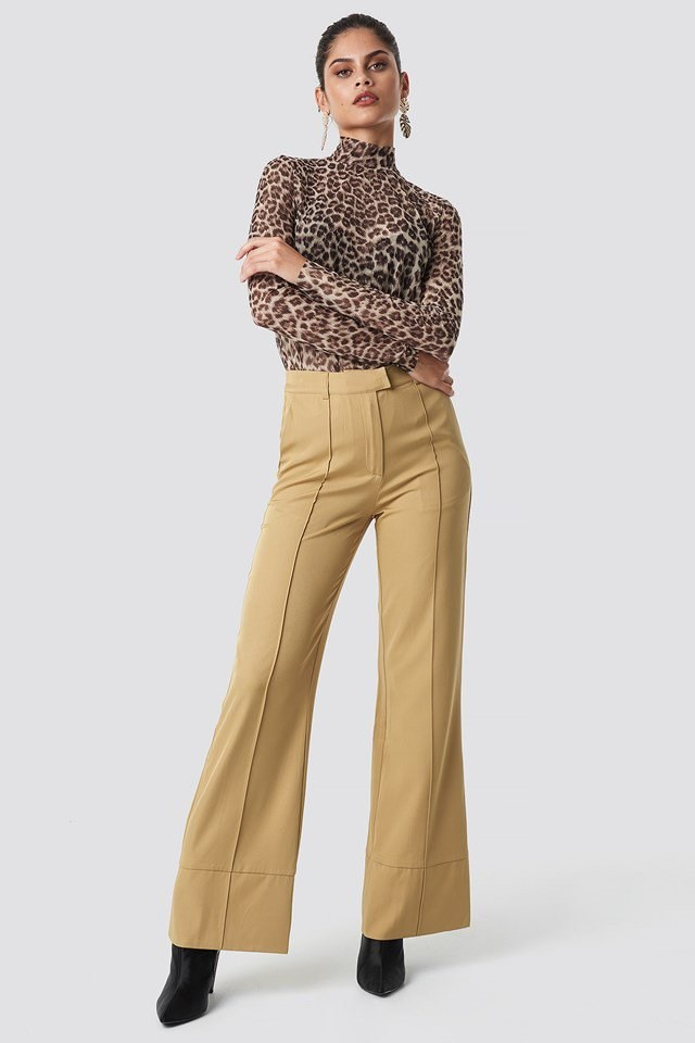 Fold Up Flared Pants with Akela Tee