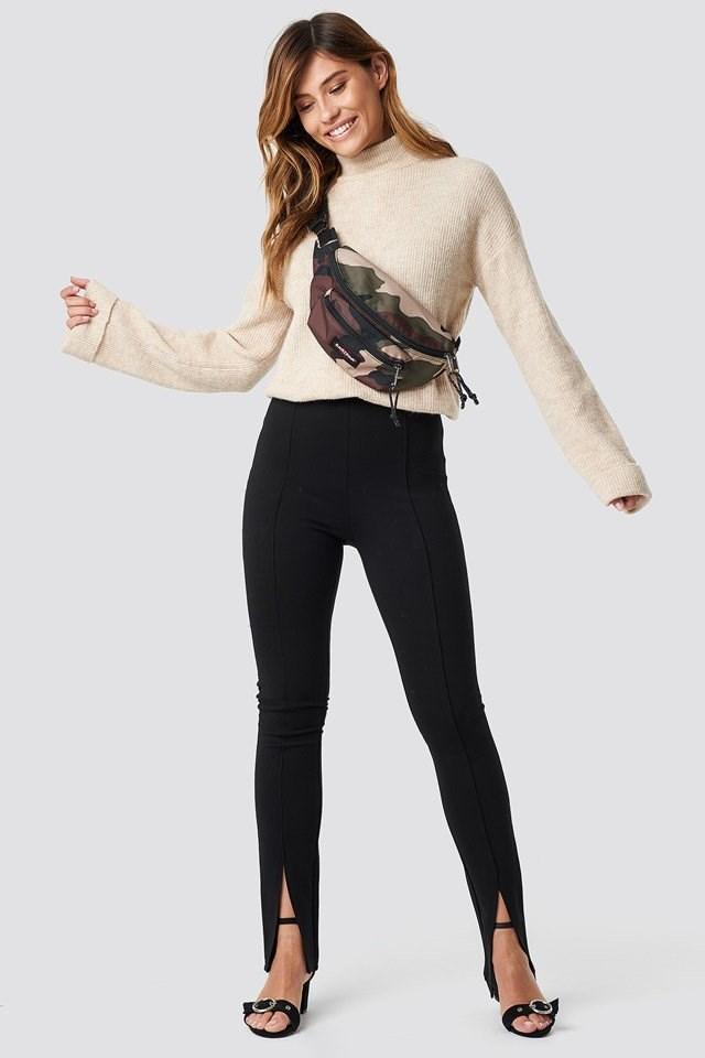 Cozy Slit Pants Outfit
