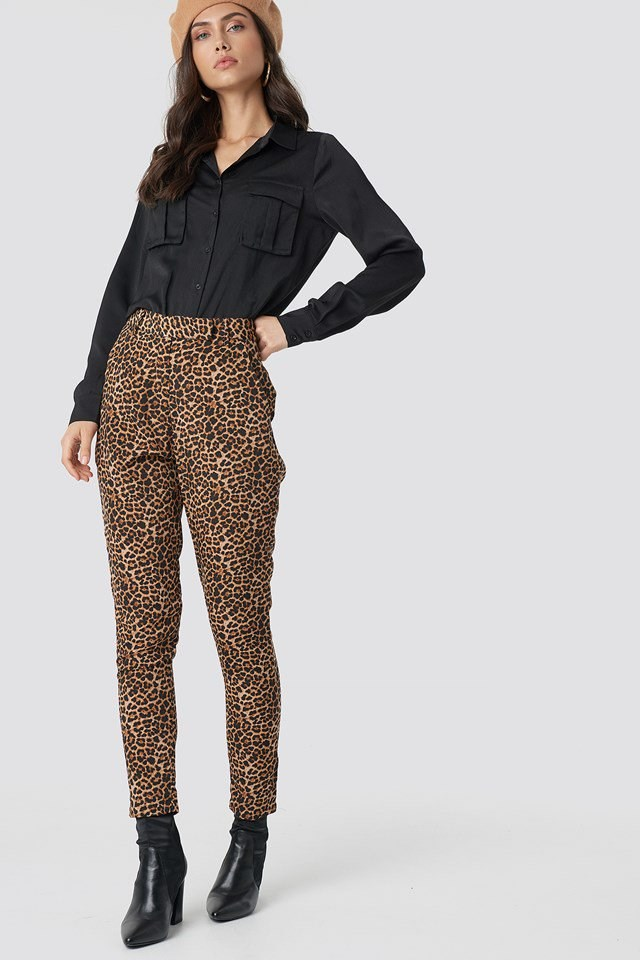 Animalt Print Trousers Outfit