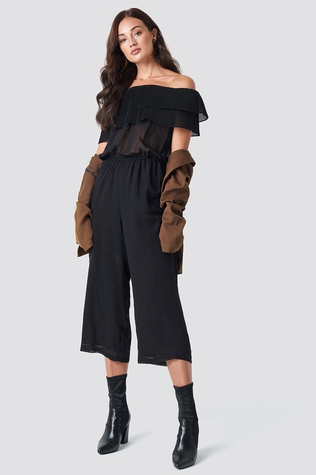 Frill Jumpsuit with Blazer