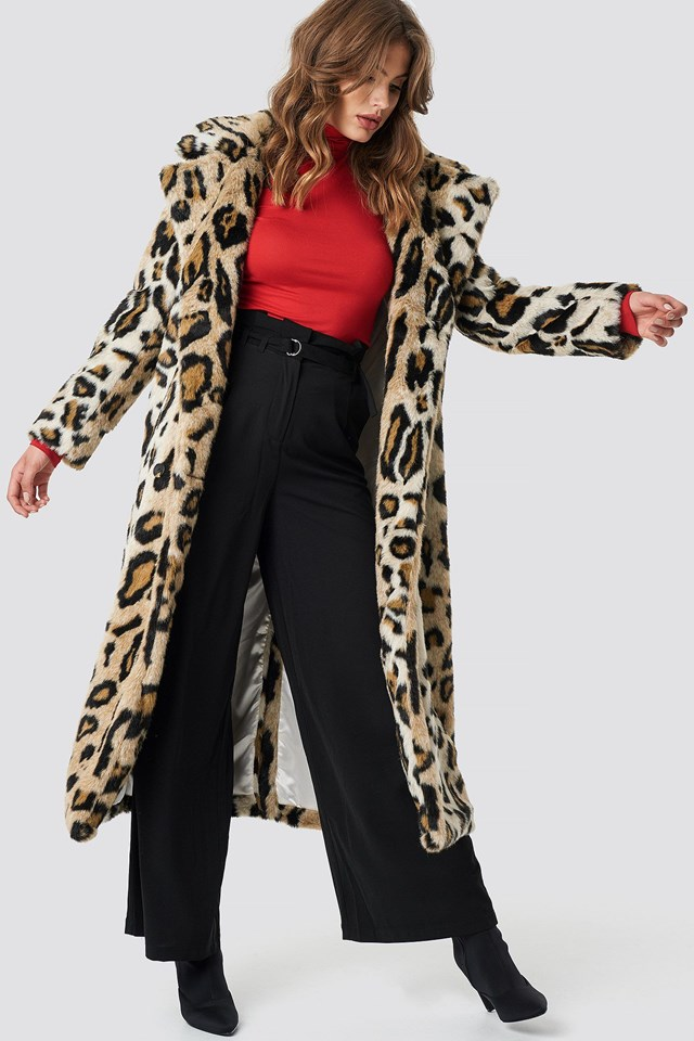 Long Animal Print Jacket Outfit