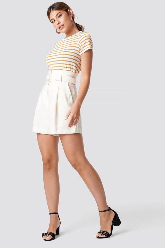 Long White Shorts
