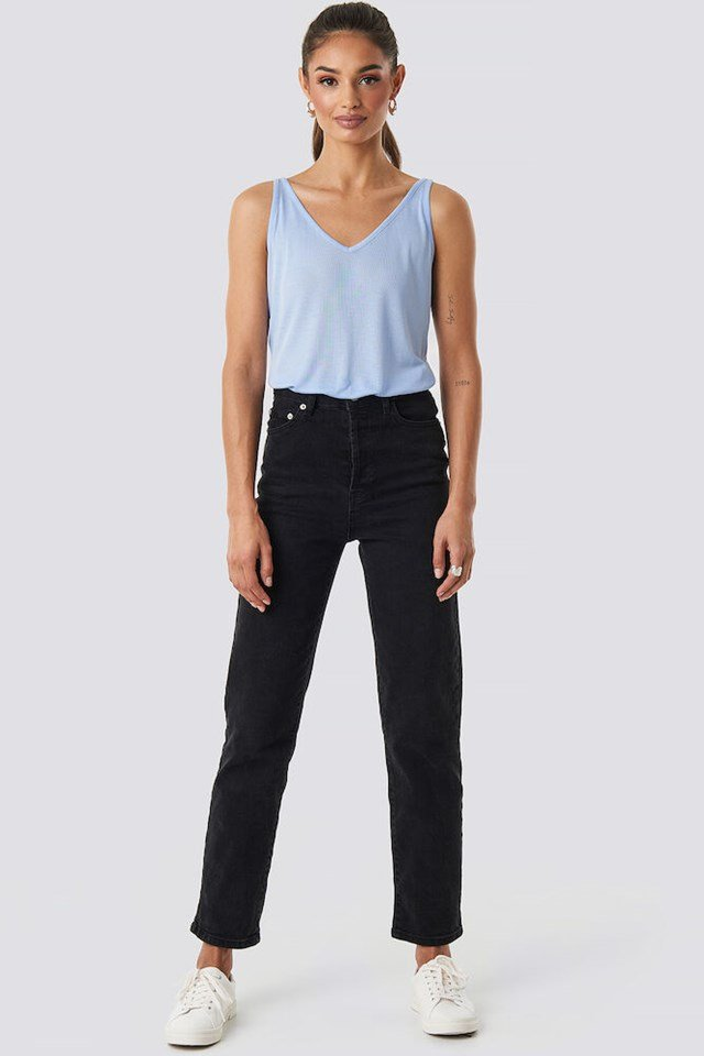 Lyocell V-Neck Tank Top Outfit.