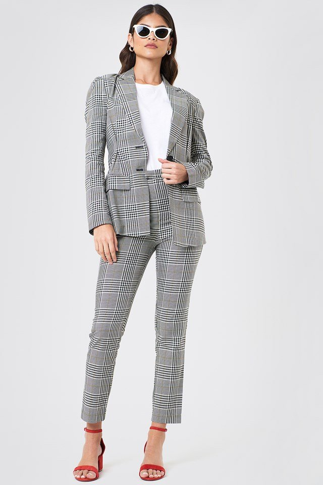Checked Suit Outfit