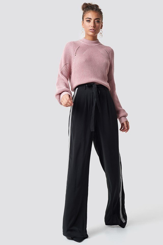 Sporty Pant Sweater Outfit