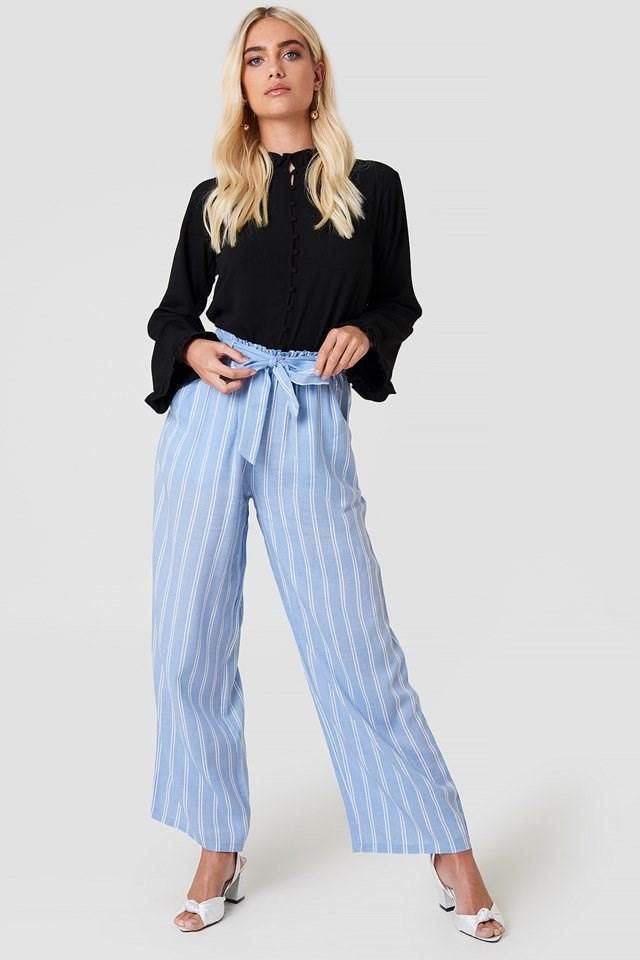 High Waist Front Knot Pants