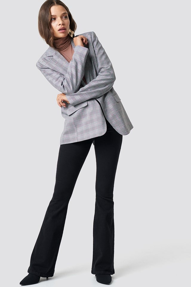 Grey Blazer X Black Pant Outfit