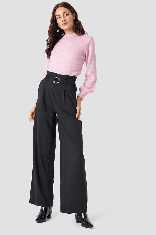 Cozy Knit and Wide Trousers Outfit