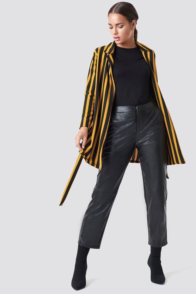 Tie Belt Blazer Outfit