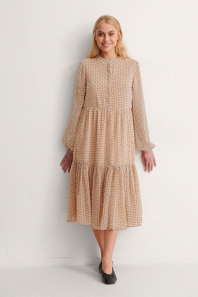 Print Sheer Printed Dress