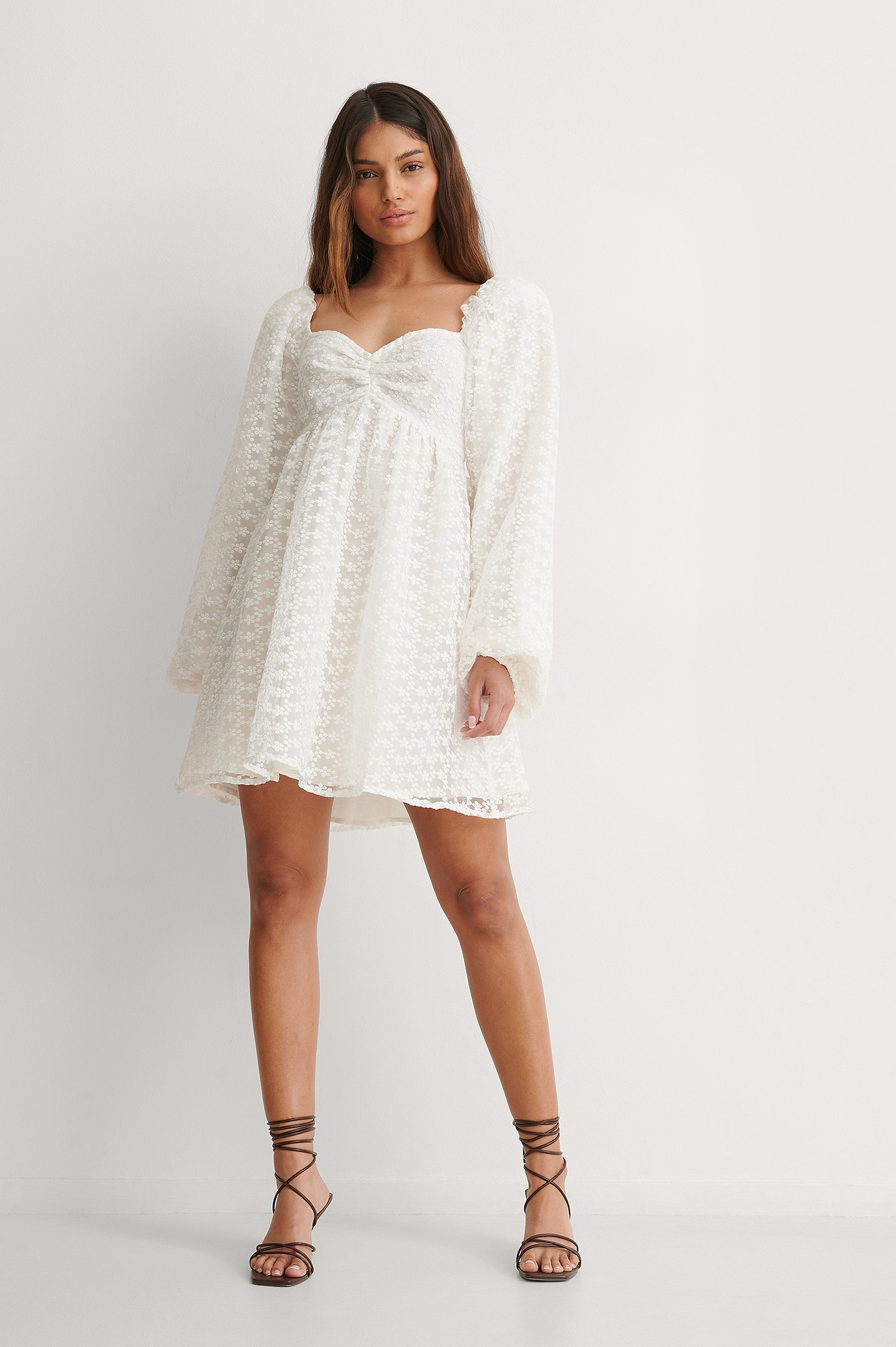 NA-KD Long Sleeve Mini Dress Outfit