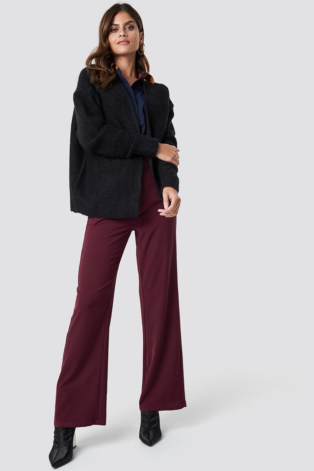 Dark Toned Cardigan Pant Outfit