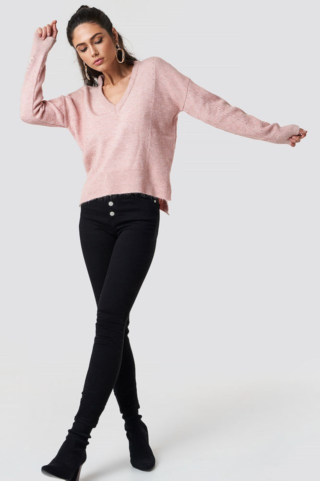 Pink Punched Knit Outfit