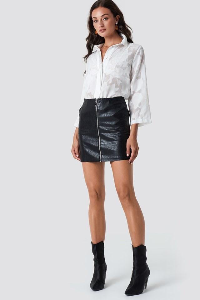 Mini Pu Skirt Outfit