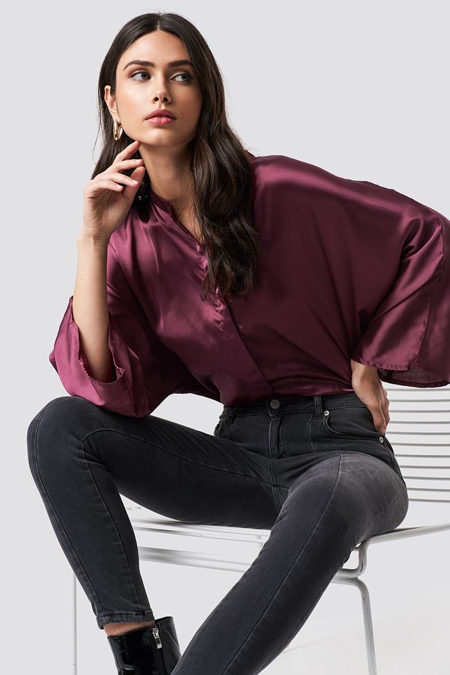 Silky Blouse Outfit