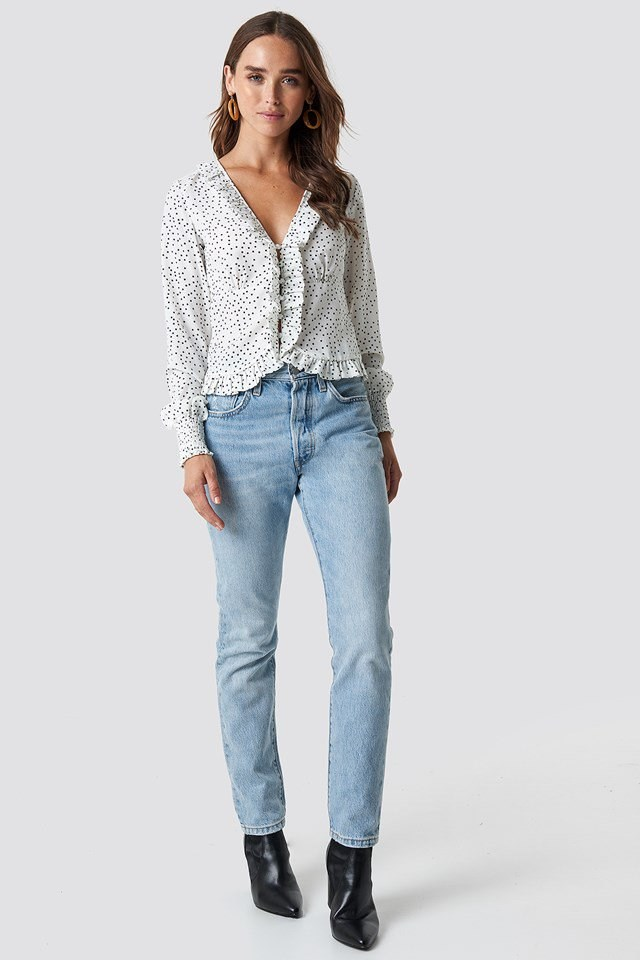 Frill Detail Blouse Outfit