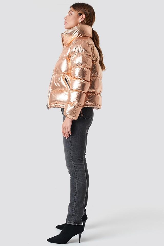 Metallic Finish Jacket Outfit
