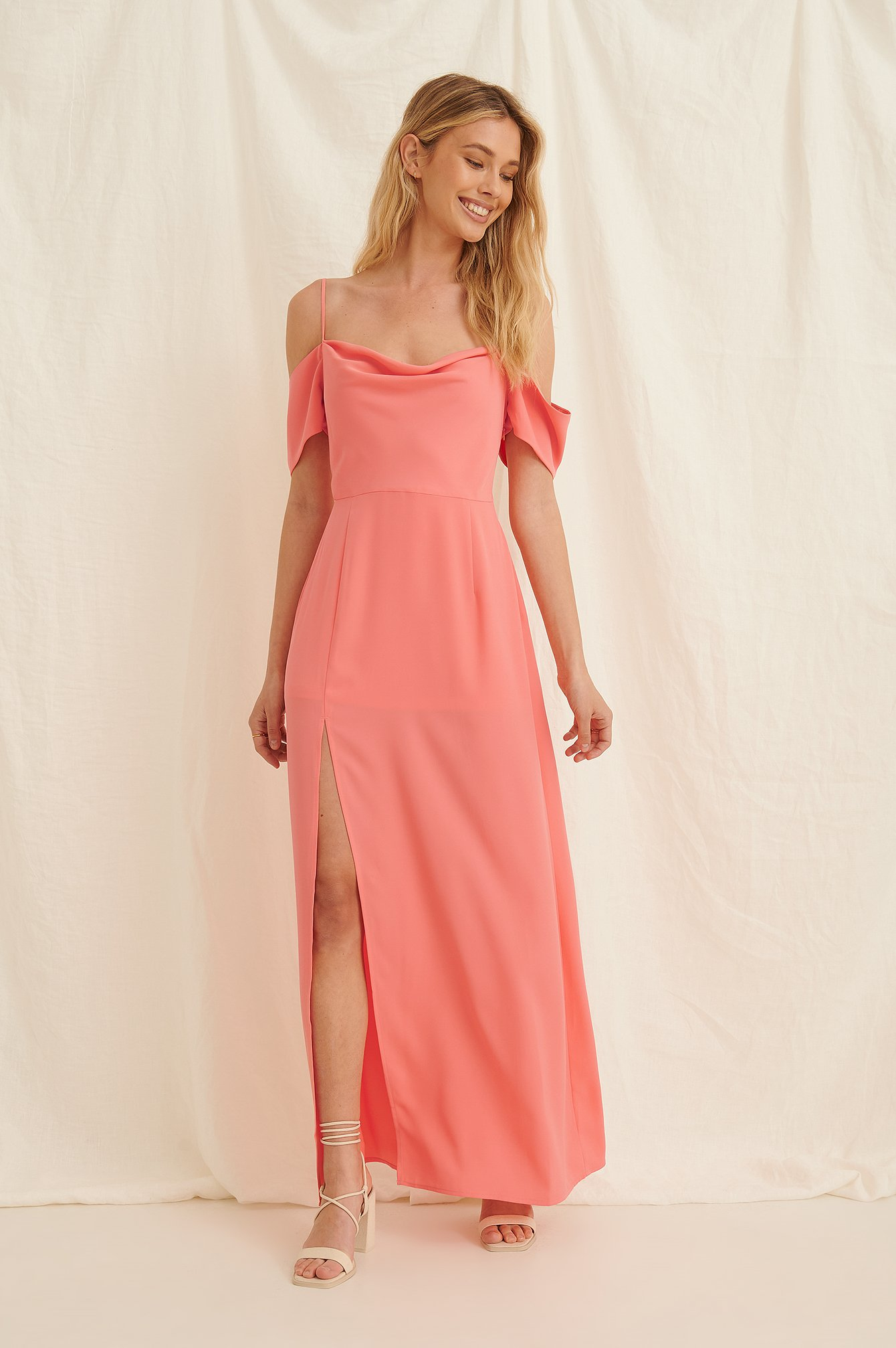 Draped Detail Recycled Maxi Dress