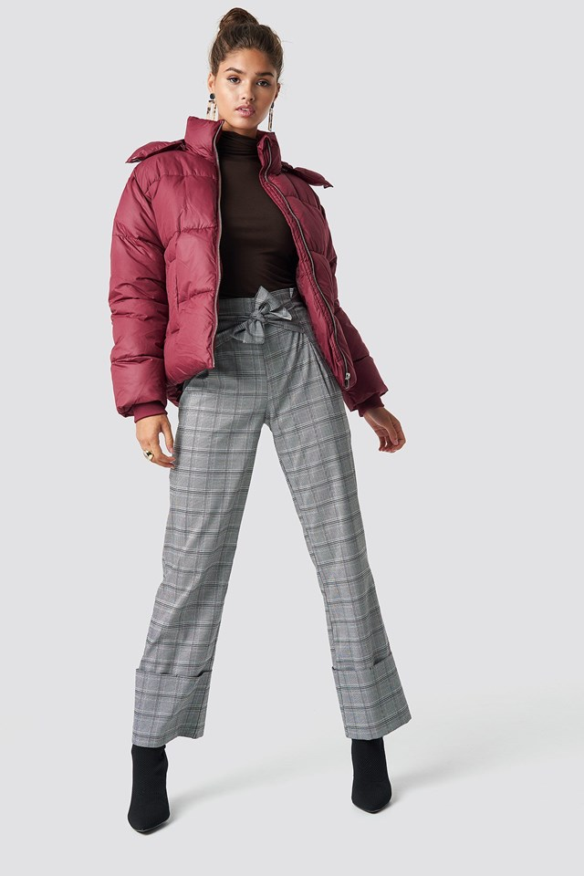 Short Puffer Jacket Outfit