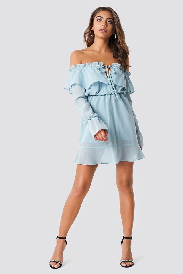 Off Shoulder Short Dress Outfit