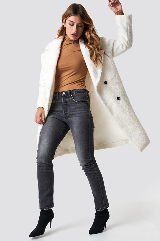 Urban White Fur Coat Outfit