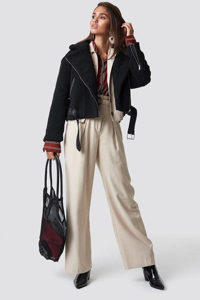 Biker Jacket X Pant Suit Outfit