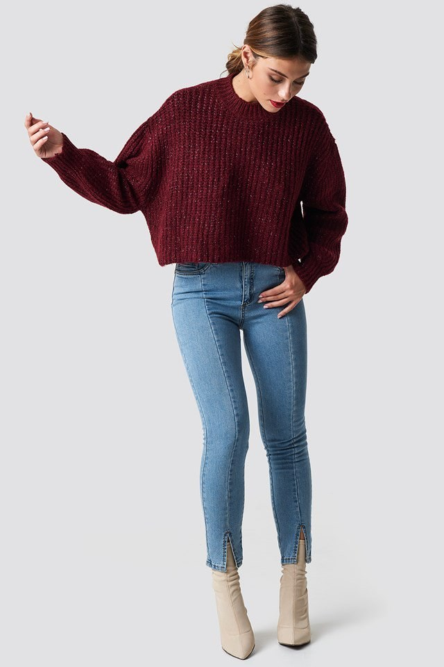 Cropped Knit Sweater Outfit