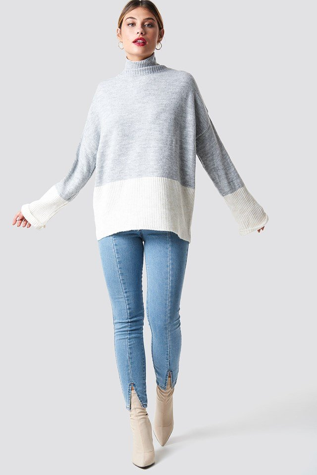 Casual Knit Sweater Outfit