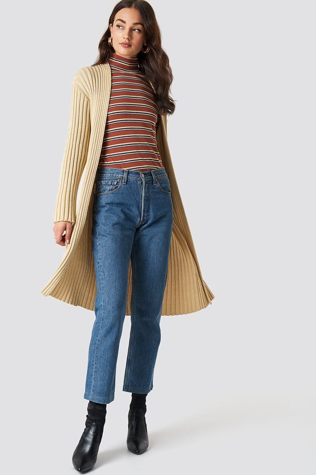 Beige Midi Cardigan Outfit
