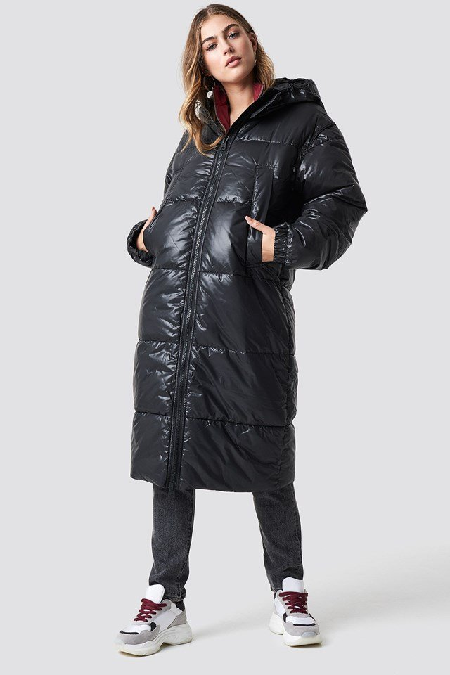 Sporty Long Puffy Jacket Outfit