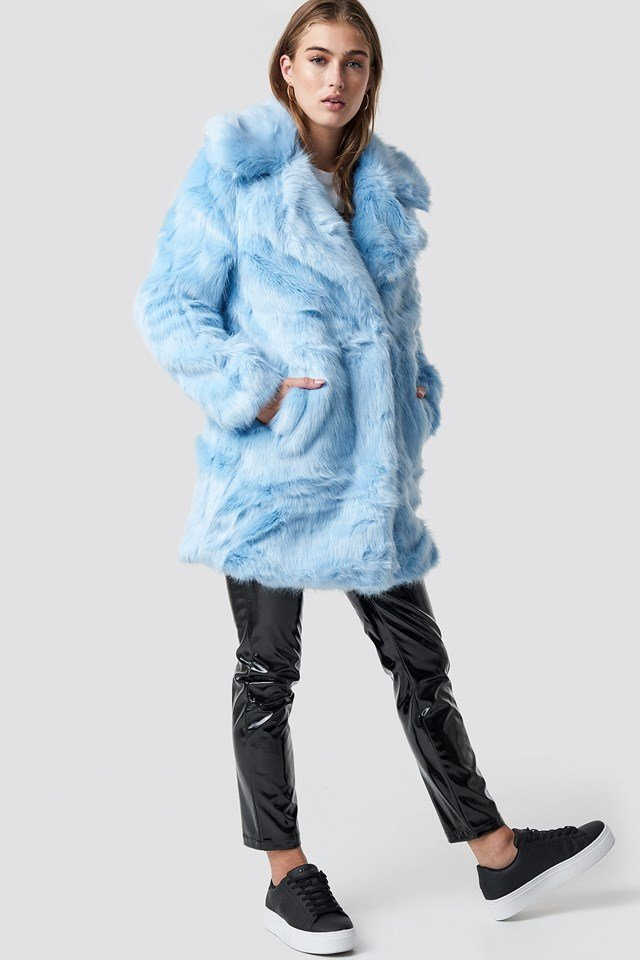 Fluffy Faux Fur Coat Outfit